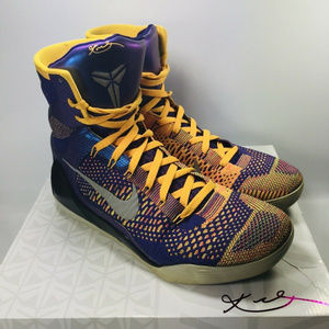 new product fde8c 1b975 NIKE. Kobe IX 9 Elite High Showtime Size 11.5 Lakers